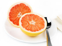Grapefruit breakfast royalty free stock photo