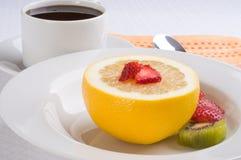 Grapefruit Breakfast Stock Photography