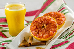 Grapefruit Breakfast Stock Photos
