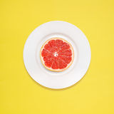 Grapefruit for breakfast. royalty free stock photos