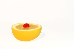 Grapefruit and Cherry Dessert Stock Photography