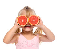 Grapefruit child Stock Images