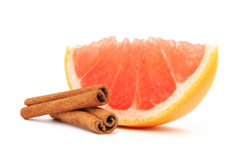 Grapefruit and cinnamon Royalty Free Stock Photos