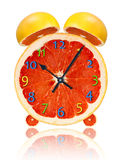 Grapefruit  clock Royalty Free Stock Photography