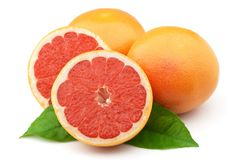 Grapefruit closeup Stock Images
