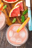 Grapefruit cocktail Stock Images