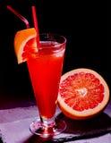 Grapefruit cocktail with straw 36 Stock Photos