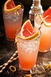 Grapefruit cocktail in tall glasses Stock Photography