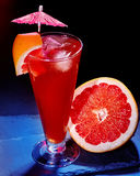 Grapefruit cocktail with umbrella 28 Stock Image