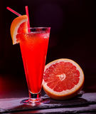 Grapefruit cocktail with umbrella 55 Royalty Free Stock Image
