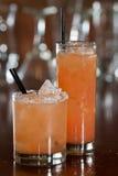 Grapefruit cocktails Stock Photo