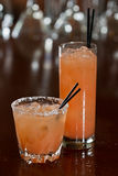 Grapefruit cocktails Stock Images