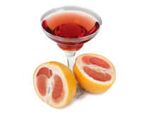 Grapefruit coctail Stock Photos