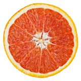 Grapefruit die op wit wordt geïsoleerde stock afbeelding