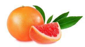Grapefruit die op wit wordt geïsoleerdi Stock Afbeelding