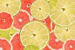 Grapefruit en Kalkplaksamenvatting Stock Foto's