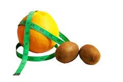 Grapefruit en kiwifruits Royalty-vrije Stock Afbeeldingen