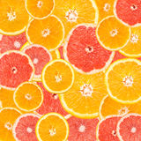 Grapefruit en Oranje Plaksamenvatting Stock Foto