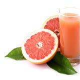 Grapefruit en sap. stock fotografie