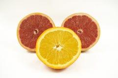 Grapefruit en sinaasappel Royalty-vrije Stock Afbeeldingen