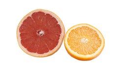 Grapefruit en sinaasappel. Stock Foto