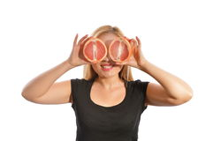 Grapefruit eyes Royalty Free Stock Image