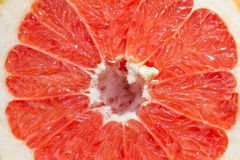 Grapefruit flesh closely. Half of juicy grapefruit closely Stock Photo