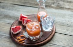 Grapefruit Fresh On The Wooden Table Stock Images