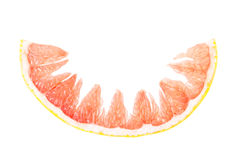 Grapefruit. Fresh grapefruit simple isolated picutre Royalty Free Stock Photo