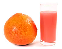 Grapefruit fruit and juice Royalty Free Stock Image
