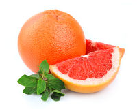 Grapefruit fruit with mint Royalty Free Stock Photo