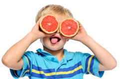 Grapefruit fun Stock Photo