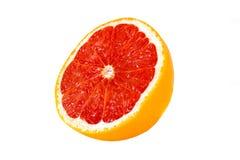Grapefruit. Geïsoleerdr op een witte achtergrond Stock Afbeelding