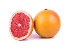 Grapefruit with half Stock Photography
