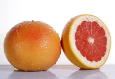 Grapefruit with half Royalty Free Stock Photography