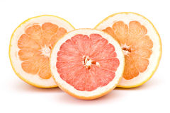 Grapefruit halves Royalty Free Stock Images