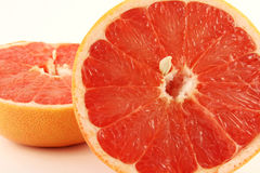 Grapefruit halves close-up Stock Photography