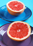 Grapefruit halves close-up Stock Photos