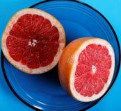 Grapefruit halves close-up Stock Image