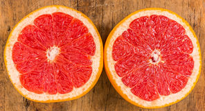 Grapefruit Halves Stock Photography