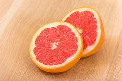 Grapefruit Halves Stock Photo