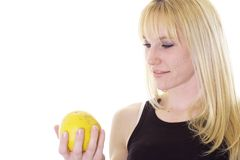 A grapefruit is healthy too Royalty Free Stock Photography