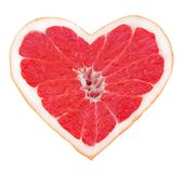 Grapefruit heart Royalty Free Stock Photo