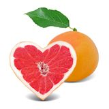 Grapefruit heart Stock Image