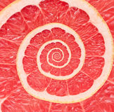 Grapefruit infinity spiral abstract background. Royalty Free Stock Photo
