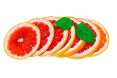 Grapefruit isolated, grapefruits. Healhy grapefruit with a leaves stock photo