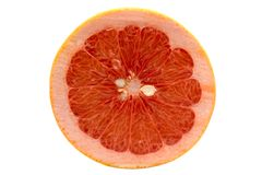 Grapefruit isolated on white. Background with clipping path Stock Photography