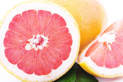 Grapefruit isolated on white background. Clipping Path Stock Photography