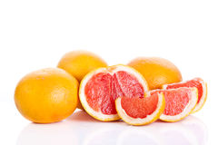 Grapefruit isolated on white background fruits food Royalty Free Stock Photo