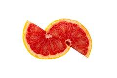 Grapefruit isolated on white background. Half and slice of grapefruit isolated on white background Royalty Free Stock Photos